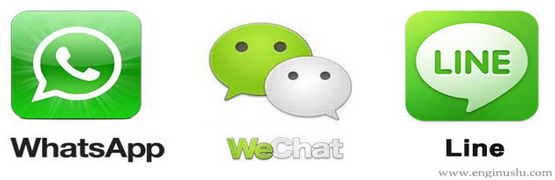 Whatsapp , Line , WeChat Arasında Karşılaştırma