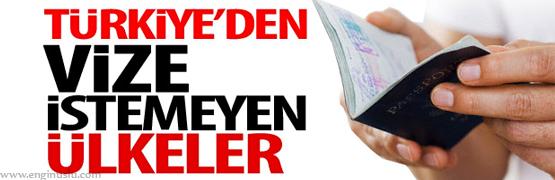 Türkiye'den vize istemeyen ülkeler