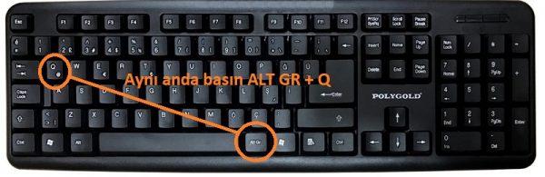 klavyede et nasıl yazılır